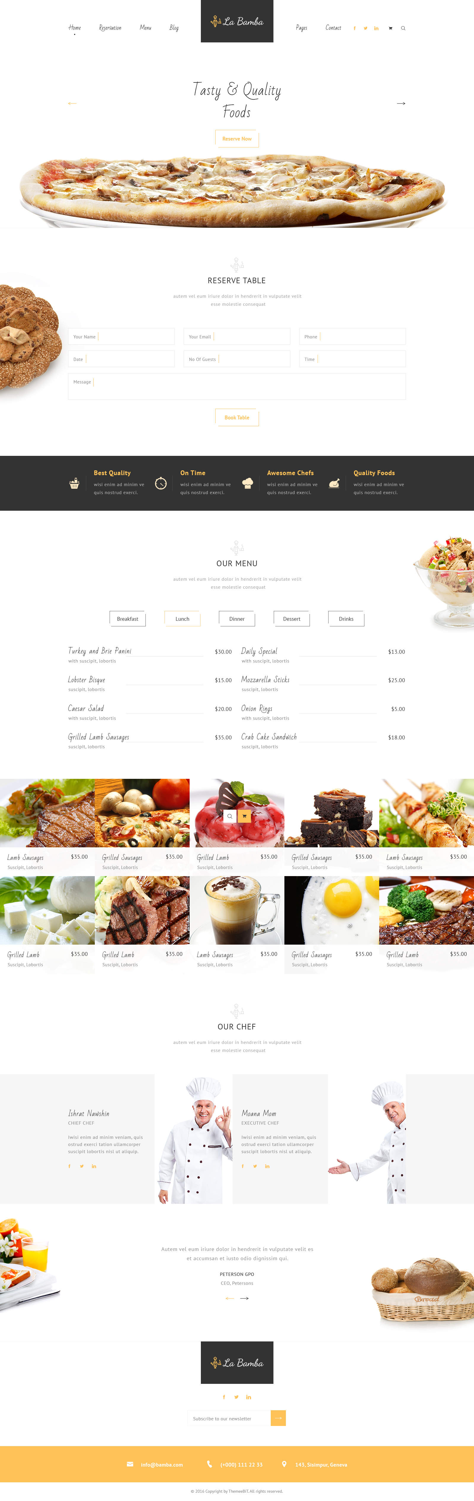 La Bamba Restaurant Psd Template By Teamebit Themeforest
