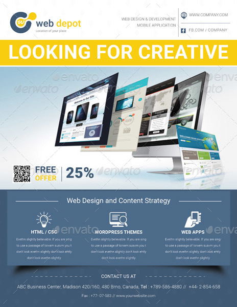 Web Design Flyer Templates by GraphicShaper – Web Flyer Template