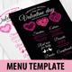 Valentine Menu Template-Graphicriver中文最全的素材分享平台