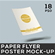 Paper Flyer and Poster Mock-up