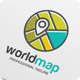 World Map Location Logo Template