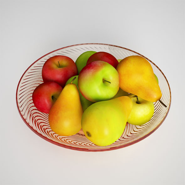 Fruit Apples and Pears - 3DOcean Item for Sale