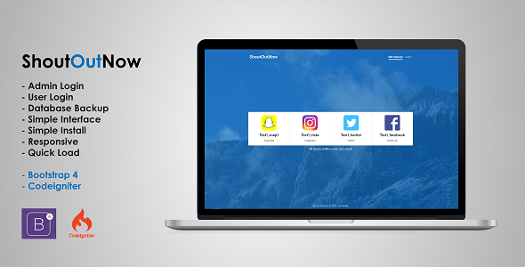 Download ShoutOutNow - Codeigniter nulled download