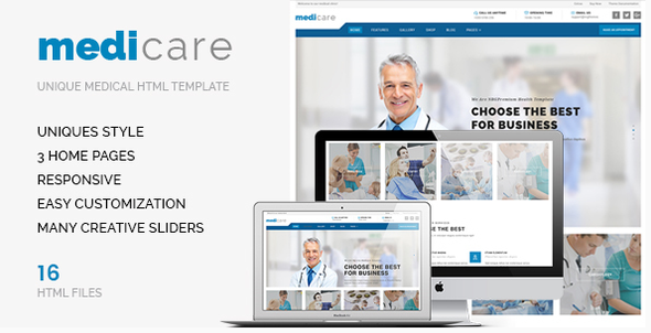 Medicare – An HTML Template For Medical doctors &amp Hospitals (Overall health &amp Beauty)