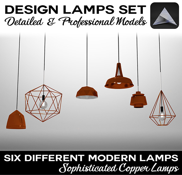 3DOcean Design Lamps Set 19345516