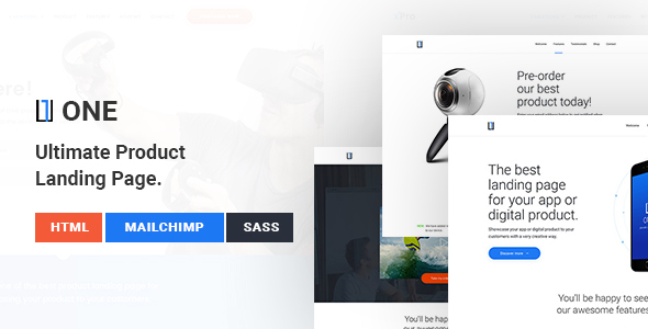 Download One - WordPress Product Landing Page
