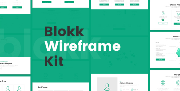 Blokk Wireframe Kit 170+ Screens
