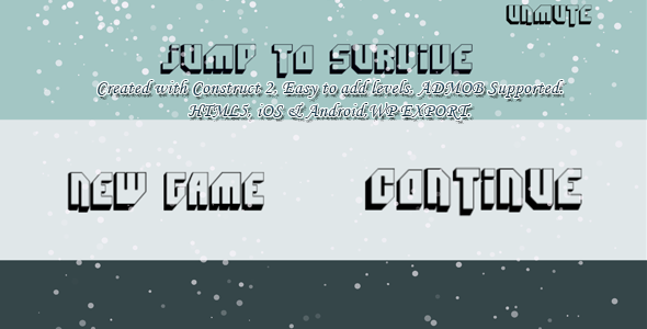 Jump to Survive (super hard) -- HTML5 Game, Mobile Vesion +Admob (Construct-2 CAPX)