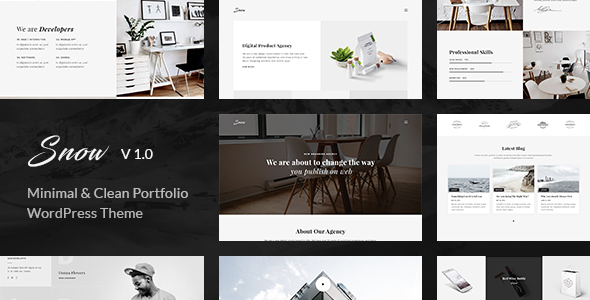 Snow | Minimal & Clean WordPress Portfolio Theme (Portfolio) Download