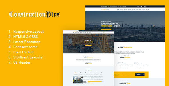 Construction Plus - Construction, Building & Maintenance Business Template