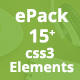 ePack -  15+ CSS3 Element Packages