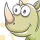 Drawn Cartoon Rhino