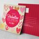 Square Valentine's Day Postcard