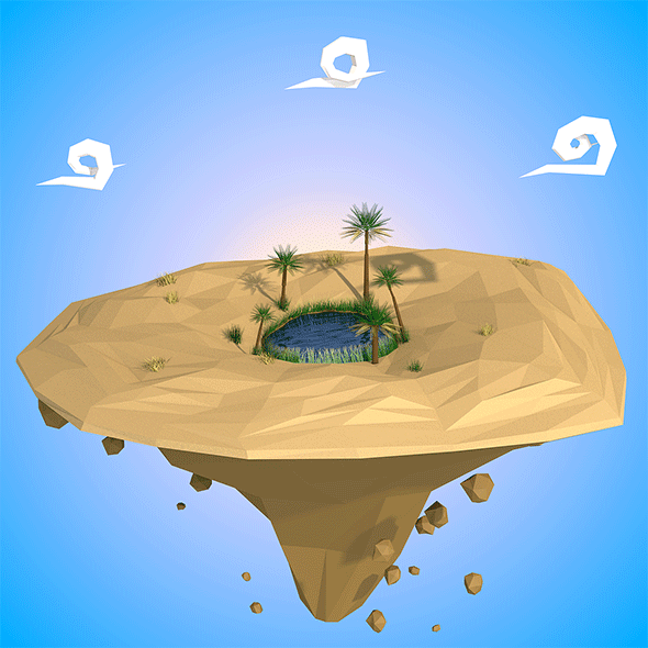 3DOcean Floating island 19349322