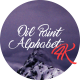 Oil Paint Alphabet 4K