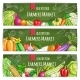 Vegetables Healthy Farmers Food Banners Set