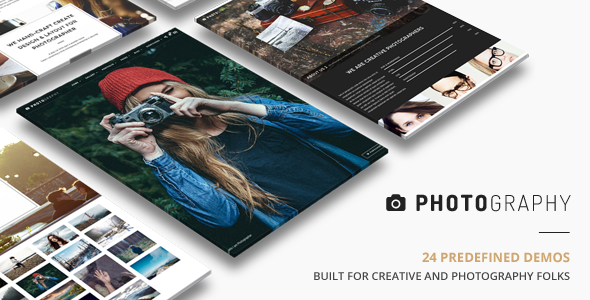 01 Cover.  large preview - Photography | Responsive Photography Theme