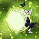Round Banner of Green Background