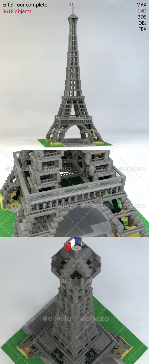 3DOcean Tower Eiffel Bricks 19350028