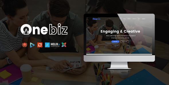 Onebiz - Responsive Multipurpose Joomla Template