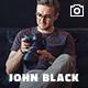 JohnBlack - тема полноэкранного сайта фотографии на WordPress