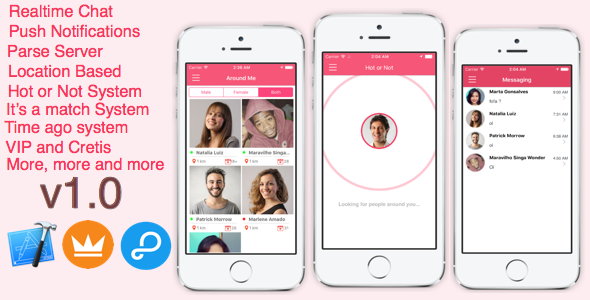 AroundMe – Far more than a total dating app (iOS) Parse Server (Complete Applications)