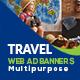 Multipurpose Travel Web Ad Banners