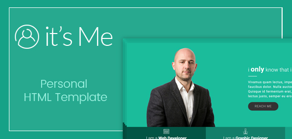 It's Me- Clean Personal Creative HTML Responsive Template