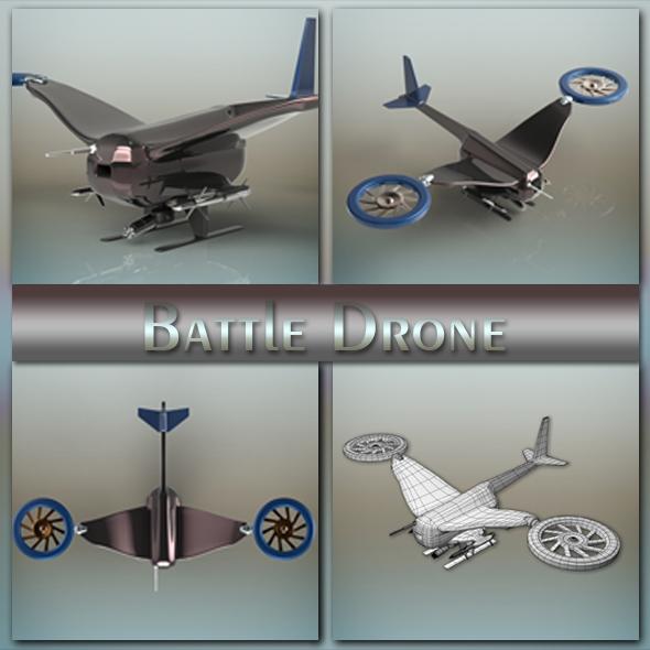 Battle Drone - 3DOcean Item for Sale
