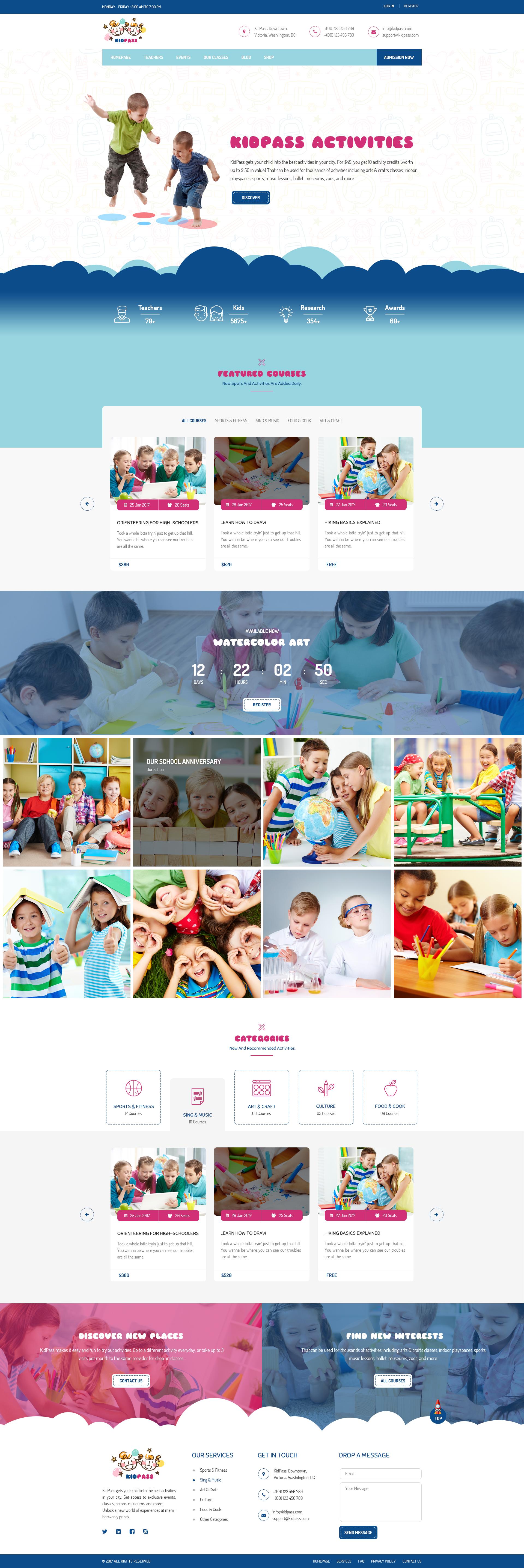 Thiết kế website trường mẫu giáo