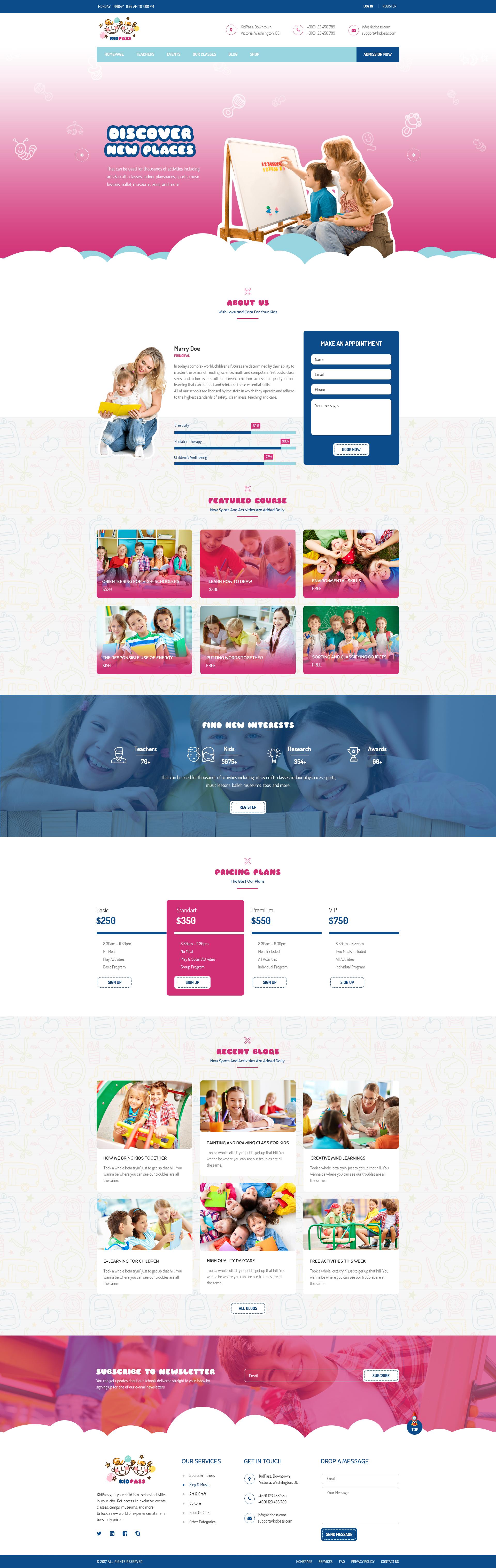 Thiết kế website trường tiểu học