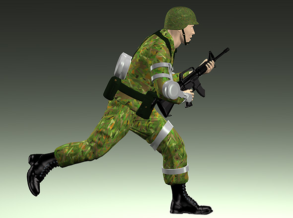 Soldier with exoskeleton - 3DOcean Item for Sale