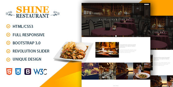 Shine | Restaurant ,Cafe HTML template