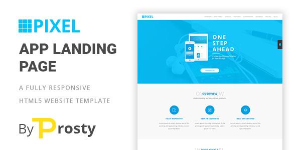 PIXEL - HTML5 App Langing Page