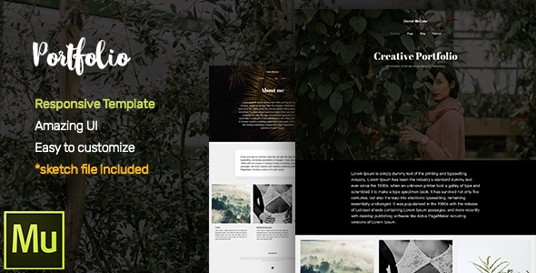 Portfolio Adobe Muse CC Responsive Template