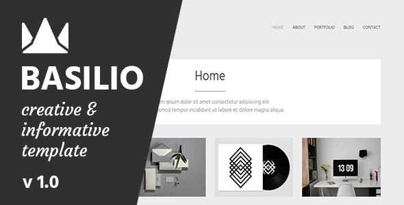 Basilio - Creative Portfolio Template