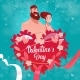 Valentine Day Gift Card Holiday Lovers Couple Love