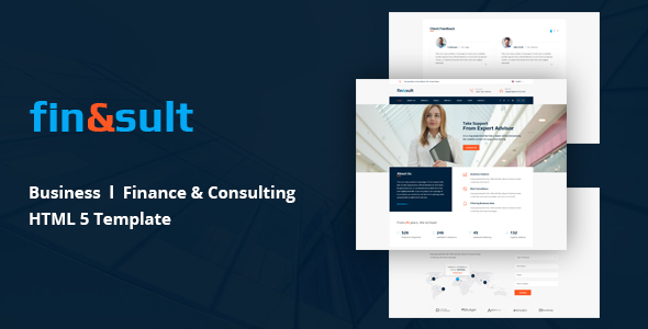 FinSult Corporate Template for Finance and Consulting Web page (Business enterprise)