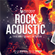 Rock Acoustic Music Flyer Template