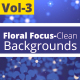 Floral Focus Clean Animated Backgrounds Vol -3