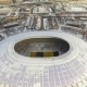 Reconstruction of the Luzhniki Stadium. Winter Aerial Survey of the Main Arena with a Drone