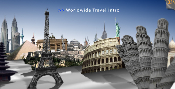 After Effects Project - VideoHive Worldwide Travel Intro Show 595143