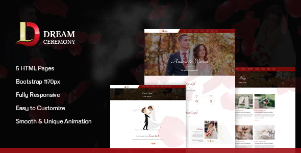 Dream Ceremony - Wedding HTML Template