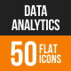 Data Analytics Flat Round Icons