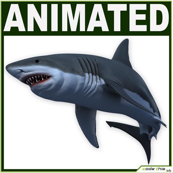 3DOcean White Shark CG 19356747