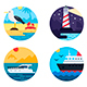 Sea Travel Set Icons