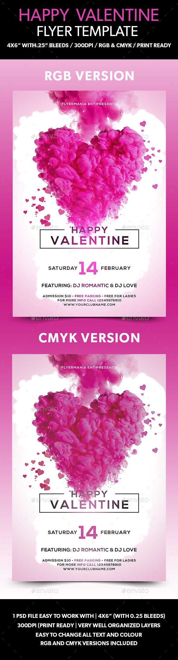 Happy Valentine Flyer Template