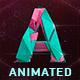 Polygonal Animated Typeface + Elements