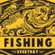 FISHING EVERYDAY GRUNGE T-SHIRT