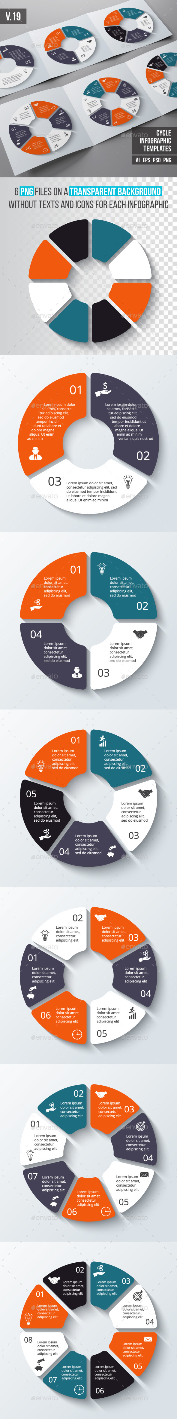 Infographics template set v.19